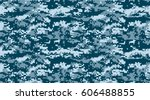 texture military camouflage... | Shutterstock .eps vector #606488855