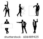 vector illustration of a six... | Shutterstock .eps vector #606489425