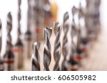 tips for a drill close up ... | Shutterstock . vector #606505982