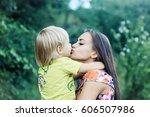 cute little child  baby boy ...   Shutterstock . vector #606507986