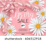 spring sale banner template... | Shutterstock .eps vector #606512918