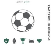 soccer  football  ball icon.... | Shutterstock .eps vector #606521966