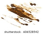 drops of mud sprayed isolated... | Shutterstock . vector #606528542