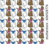 seamless background with cats   Shutterstock .eps vector #606528776
