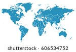 blue world map. | Shutterstock .eps vector #606534752