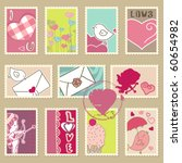 set of valentine s day postage... | Shutterstock .eps vector #60654982