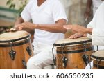 Cuban Performers Playing Bongo Drums at Afro-Cuban Museum in Havana, Cuba