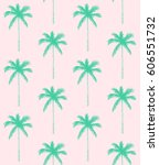seamless pattern. palm tree... | Shutterstock .eps vector #606551732