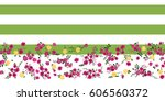 flowery bright border in small... | Shutterstock .eps vector #606560372
