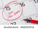 save the date written on a... | Shutterstock . vector #606562916