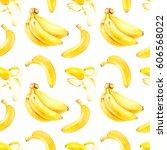 banana seamless pattern. banana ... | Shutterstock . vector #606568022