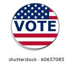 3d vote pin with usa flag   Shutterstock .eps vector #60657085