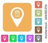 delete gps map location flat... | Shutterstock .eps vector #606582356