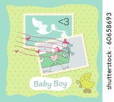 Baby Boy Card With Stamps