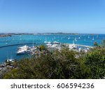 Small photo of Saint Martin, Marigot marina, view from Fort Louis