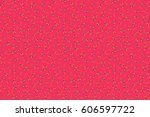 raster flat flowers and leaves...   Shutterstock . vector #606597722