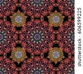damask paisley wallpaper.... | Shutterstock . vector #606599225