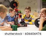 education  children  technology ... | Shutterstock . vector #606606476