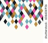 rhombus background. geometric... | Shutterstock .eps vector #606606956