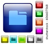tab folder icons in rounded... | Shutterstock .eps vector #606607568