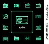 neon green simple line flat... | Shutterstock .eps vector #606623012