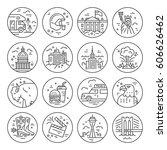 the variety of symbols of... | Shutterstock .eps vector #606626462