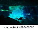 Diver Exploring Underwater...