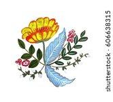 illustration of a hand drawn... | Shutterstock . vector #606638315
