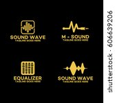 set of sound wave logo ...