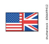 american and great britain... | Shutterstock .eps vector #606649412