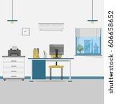office background | Shutterstock .eps vector #606658652