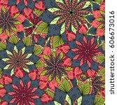 hand drawn flower mandala for... | Shutterstock . vector #606673016
