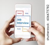 Stock photo recruitment jobs career hiring vacancy word 606675782