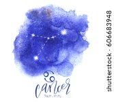 astrology sign cancer | Shutterstock .eps vector #606683948