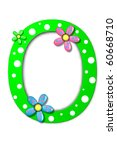Flower Child Alphabet Set O Is...