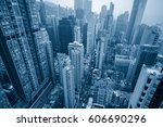 view of hong kong apartment... | Shutterstock . vector #606690296