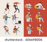 guitarist character vector... | Shutterstock .eps vector #606698006