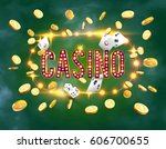 the word casino  surrounded by...   Shutterstock .eps vector #606700655