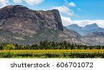 view of the western ghats with... | Shutterstock . vector #606701072