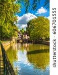 strasbourg  water canal in... | Shutterstock . vector #606701555