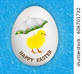 happy easter greetings  ... | Shutterstock .eps vector #606701732