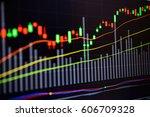 stock market chart stock market ...   Shutterstock . vector #606709328