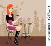 sillón,silla,café,vestido,festivo,feliz,dama,línea,sonrisa,mujer