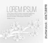 spring flower background | Shutterstock .eps vector #606718898