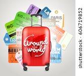 different boarding pass... | Shutterstock .eps vector #606719852