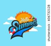 summer logo  summer time  enjoy ... | Shutterstock .eps vector #606732128