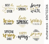 it's spring time lettering...   Shutterstock .eps vector #606732266