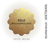 premium quality golden label... | Shutterstock .eps vector #606736406