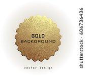 premium quality golden label... | Shutterstock .eps vector #606736436