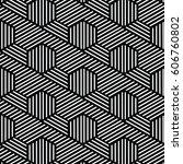 black and white pattern... | Shutterstock .eps vector #606760802
